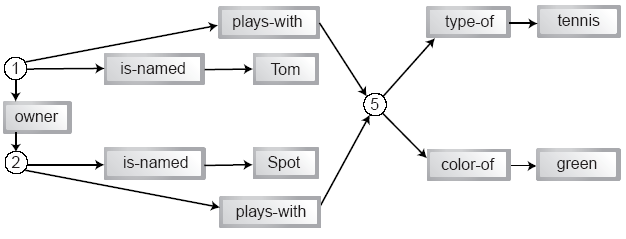 Image: Much reduced graph of boy-dog tuple links.