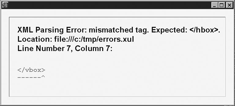 Image: Basic error message from Mozilla.