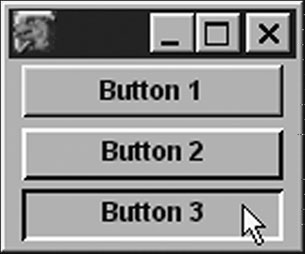 Image: Fake and real buttons in Mozilla.
