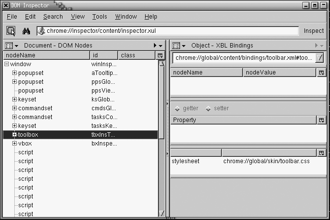 Image: DOM Inspector's <multipanelset> content.